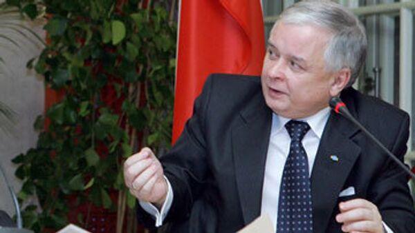 Качиньский встретится с вице-президентом США в Варшаве