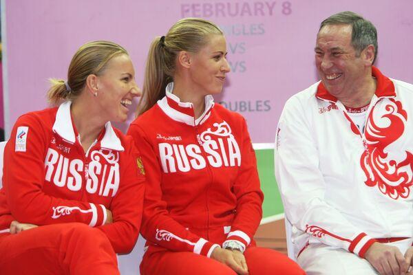 Жеребьевка четвертьфинального матча Кубка Федерации по теннису Россия-Китай прошла в Москве