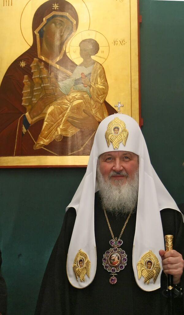 Патриарх считает женщин сильной половиной человечества