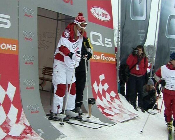 Российский Куршевель. В Подмосковье состоялся звездный заезд на лыжах