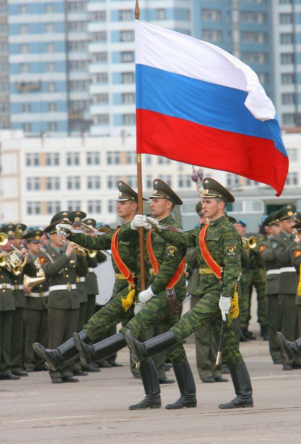 Репетиция военного парада в честь Дня Победы