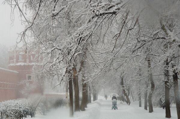 Зимние виды Москвы