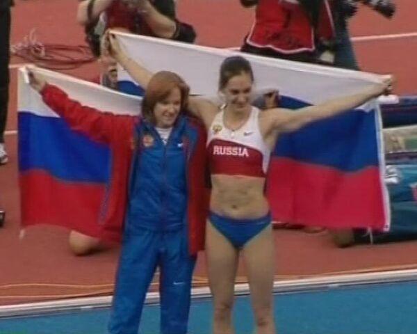 Два мировых рекорда за один вечер от Елены Исинбаевой
