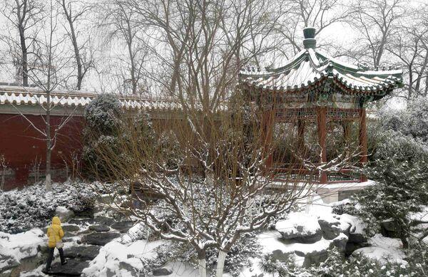Снегопад в Китае