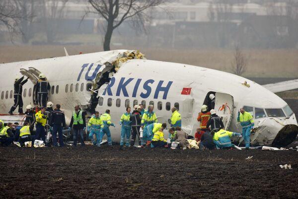 Потерпевший крушение Boeing 737-800 авиакомпании Turkish Airlines
