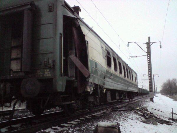 Взрыв вагона поезда