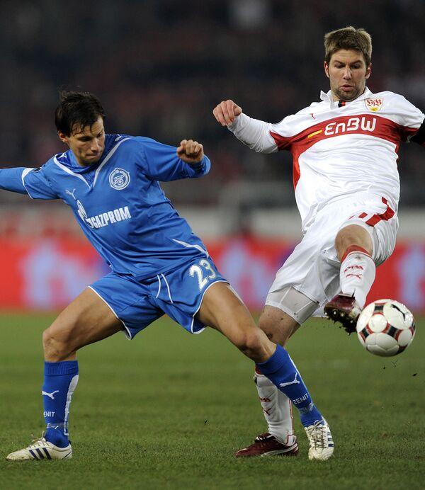 Саболч Хусти в матче против Штутгарта
