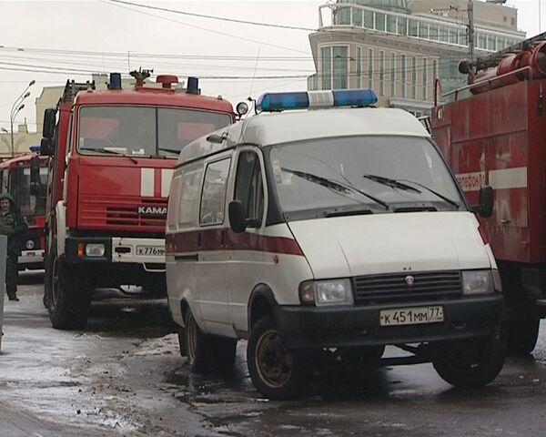 Пожар в здании РЖД. Видео с места событий