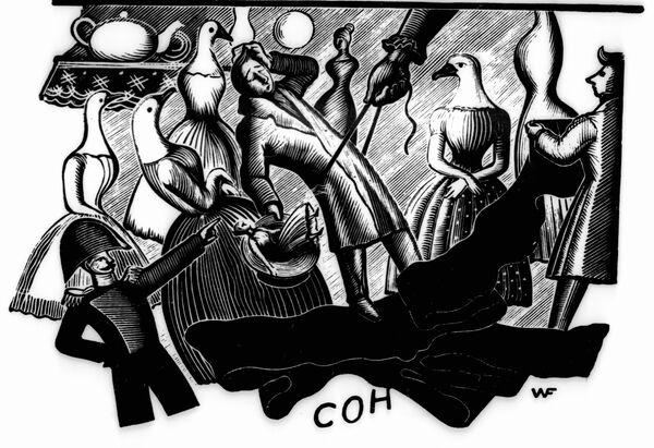 Иллюстрация к повести Николая Гоголя Иван Федорович Шпонька и его тетушка