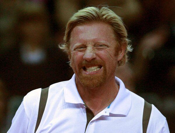 Немецкий теннисист Борис Беккер