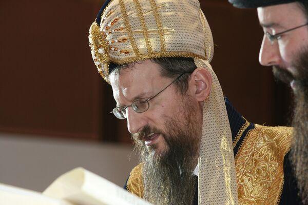 Берл Лазар на еврейском празднике Пурим