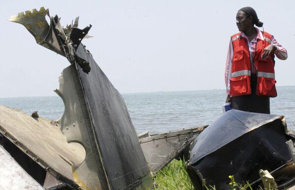 На месте крушения самолета Ил-76 в Уганде