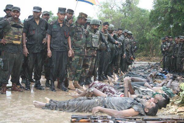 Уничтоженые бойцами армии Шри-Ланки боевики ТОТИ на севере острова