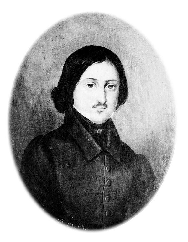 Портрет русского писателя Н.Гоголя, написанный Т.Шевченко