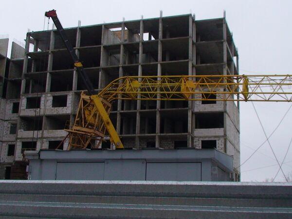 Обрушение строительного крана в Нижнем Новгороде