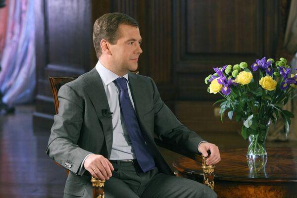 Интервью президента РФ Д. Медведева телекомпании Би-Би-Си
