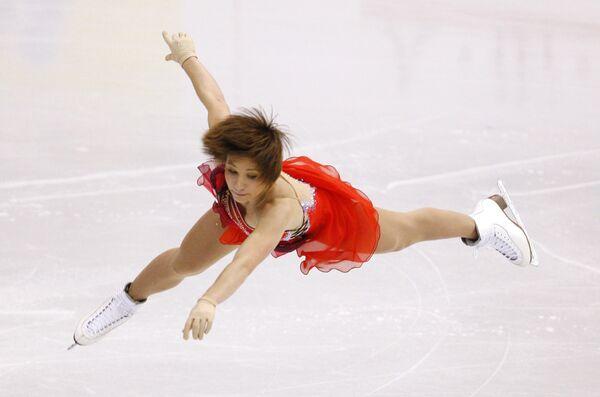 Алена Леонова на чемпионате мира по фигурному катанию в Лос-Анджелесе