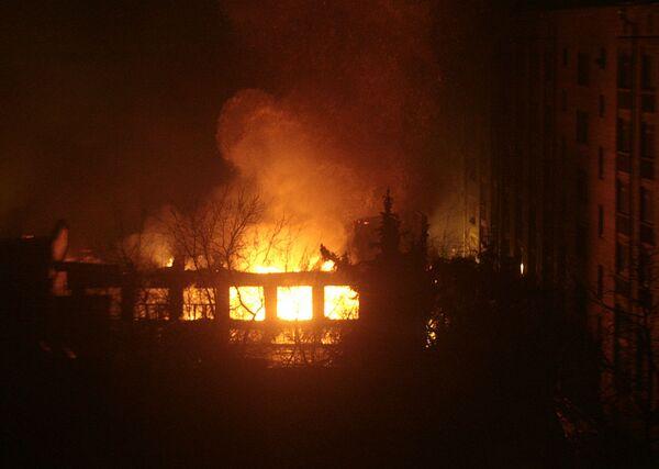 Пожар в МАИ