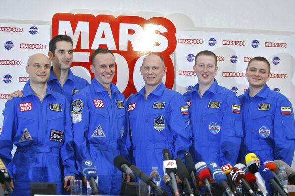 Члены международной экспериментальной экспедиции на Марс