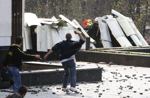 Беспорядки у здания парламента в центре Кишинева