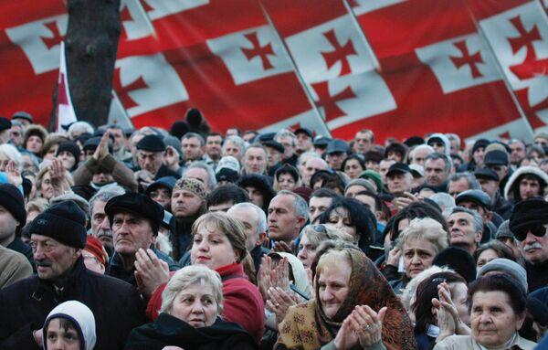 Митинг в Тбилиси. Архив.