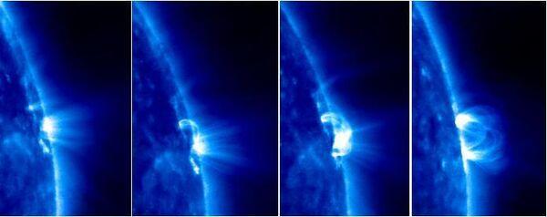 Цикл появления и развития солнечных вспышек