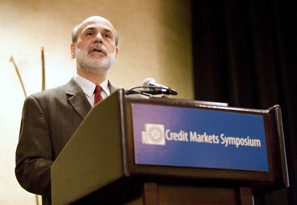 Глава Федеральной резервной системы (ФРС) США Бен Бернанке