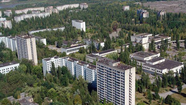 Город Припять после аварии на Чернобыльской АЭС. Архивное фото