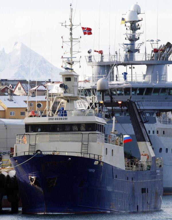 Российское судно Коралнес, затонувшее у берегов Норвегии