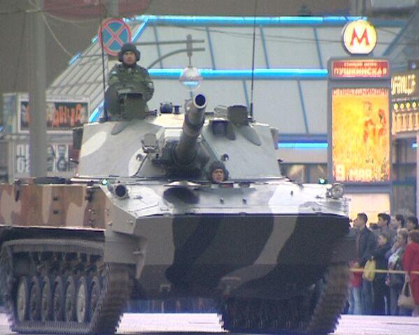 Танки потревожили покой жителей центра Москвы