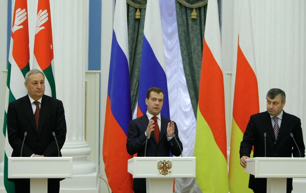 Тбилиси называет провокацией соглашения России с Абхазией и ЮО