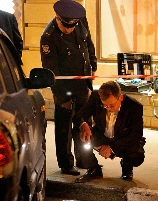 В центре Москвы расстрелян водитель Мерседеса