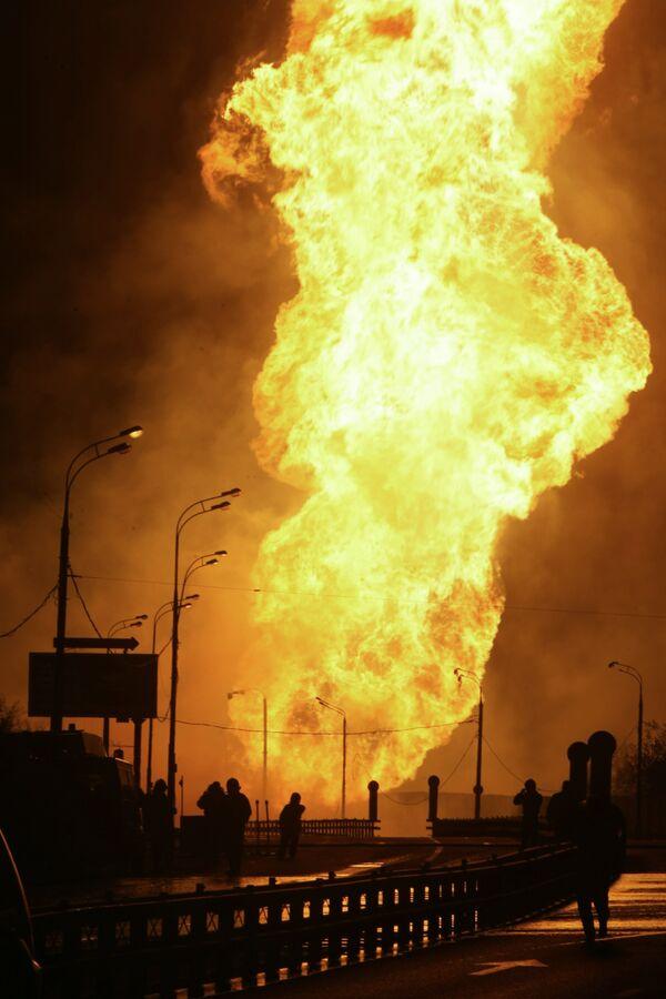 Магистральный газопровод горит в Ингушетии