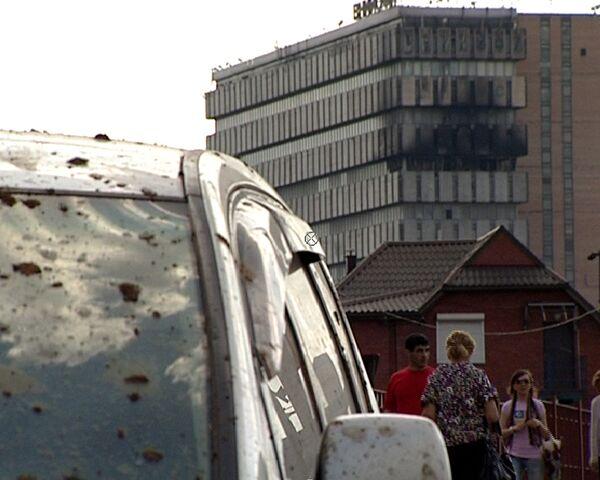 Последствия взрыва на газопроводе в Москве
