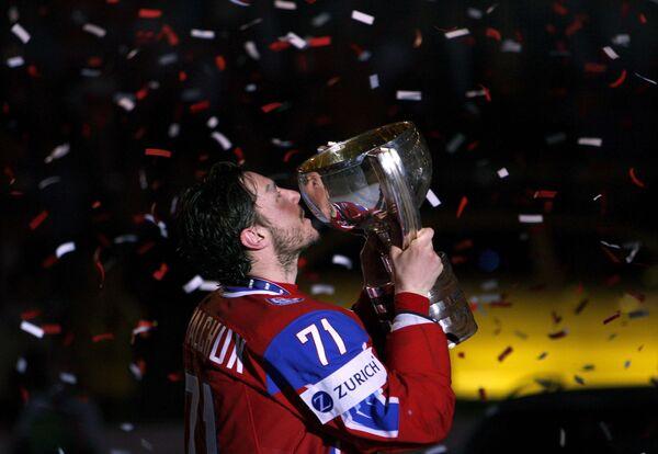 Илья Ковальчук в Кубком чемпионата мира по хоккею