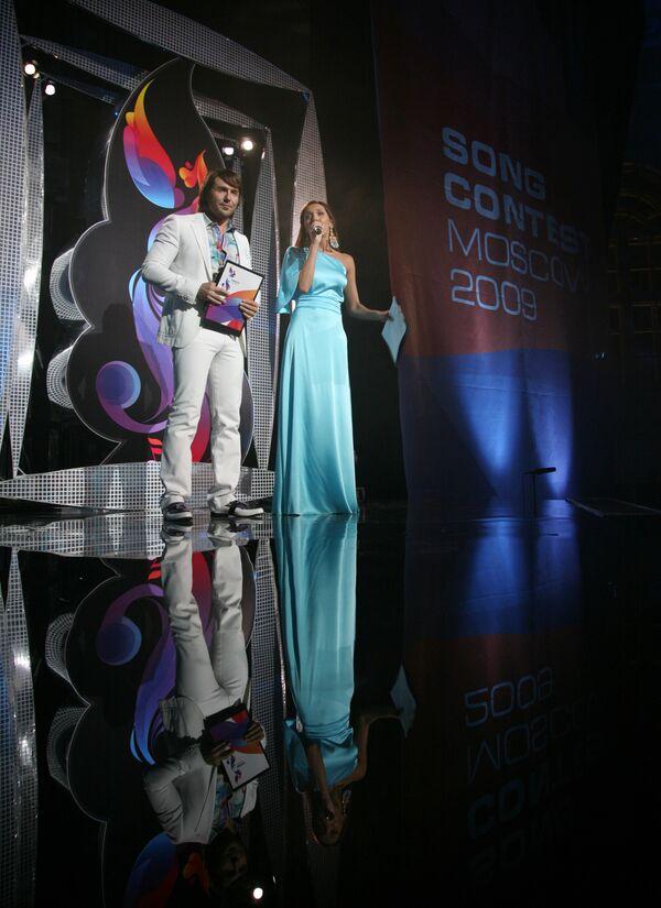 Андрей Малахов и Алсу на официальном открытии конкурса Евровидение-2009 в Евродоме