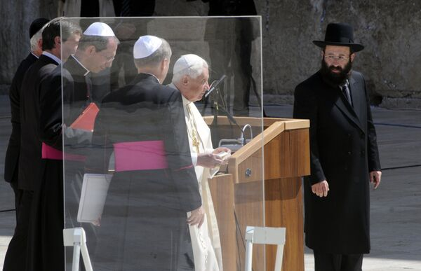 Папа Римский Бенедикт XVI в Иерусалиме
