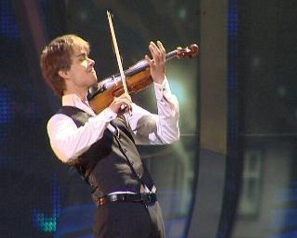 Выступление норвежского певца Александра Рыбака, ставшего победителем Евровидения