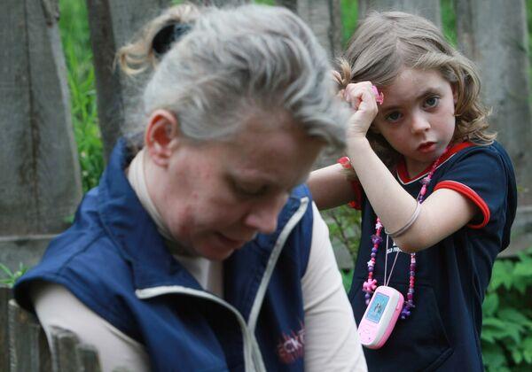 Наталья Зарубина с дочерью