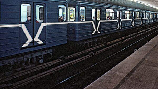 Поезд метро. Архив