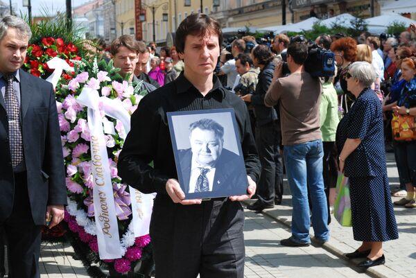 Прощание с актером Вячеславом Невинным в МХТ имени Чехова