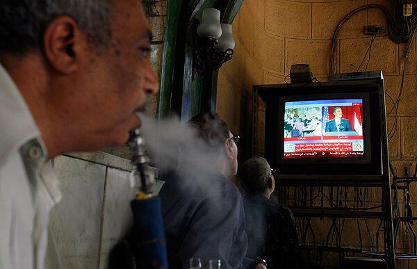 Во время выступления Барака Обамы в Египете