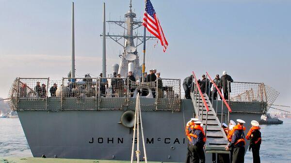 Американский эсминец Джон Маккейн. Архивное фото
