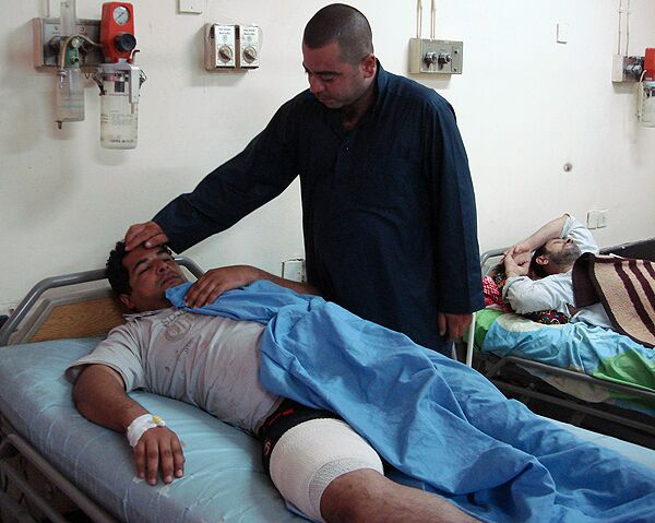Взрыв на рынке Багдада