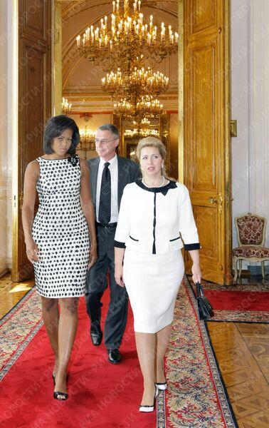 Супруги президентов России и США Светлана Медведева и Мишель Обама