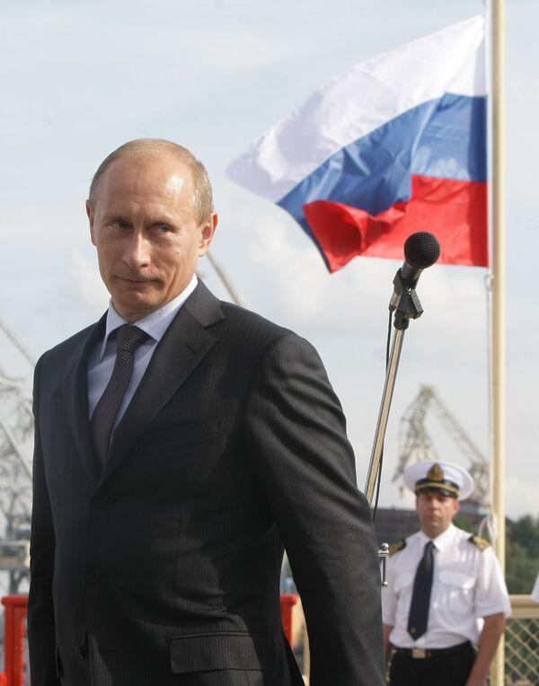 Владимир Путин осмотрел ледокол Санкт-Петербург