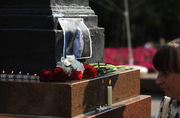 Пикет памяти правозащитницы Натальи Эстемировой прошел в Москве