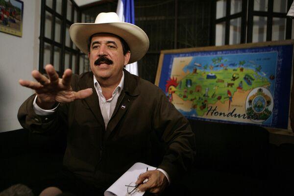 Свергнутый президент Гондураса Мануэль Селайя