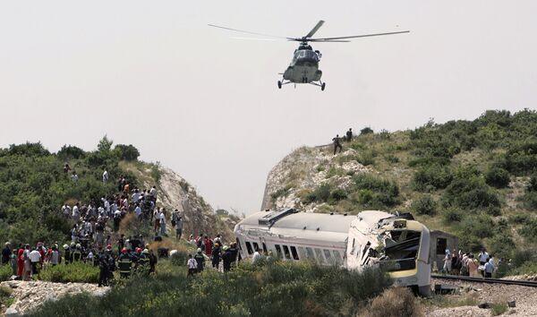Крушение поезда в Хорватии