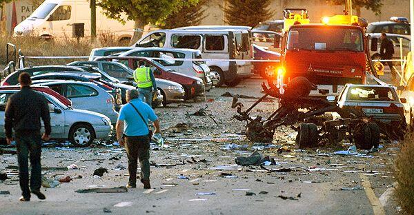Заминированный автомобиль взорван в Испании
